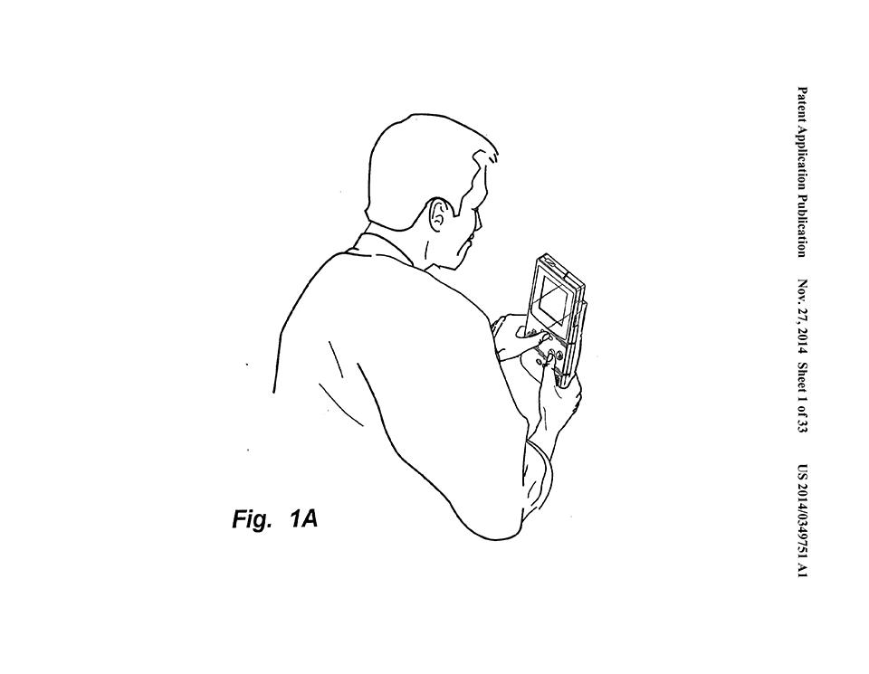 Patente mostrando gameboy