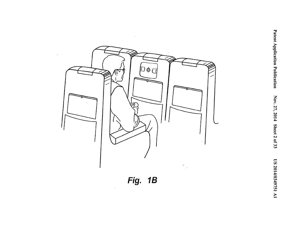 Patente mostrando o uso em um avião