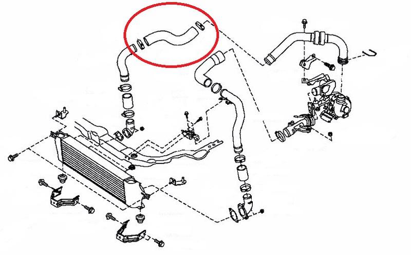 LADELUFT tuyau air tuyau tuyau pour Nissan qashqai 1.5