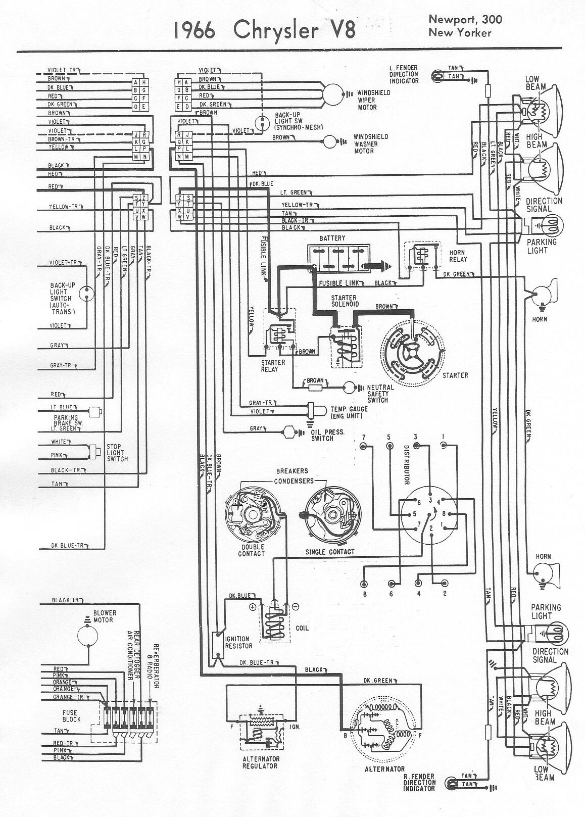 1966 Chrysler New Yorker Wiring Diagram 1956 Chrysler Wiring