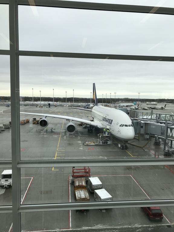 Der A380 am Gate in München