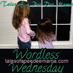 Projektbutton Wordless Wednesday von talesofapeedeemama