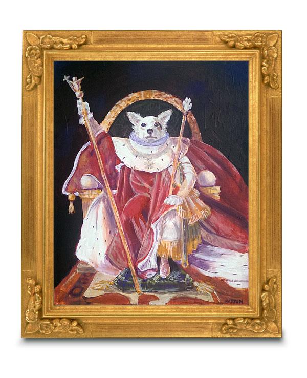 napoleon dog portrait