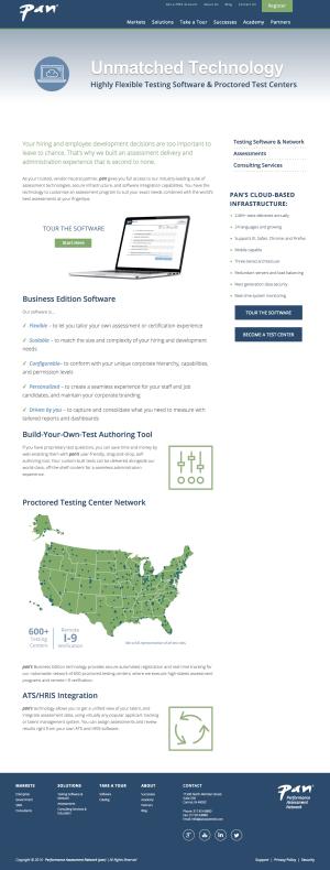 web design interior page