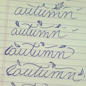 sketch of autumn typography