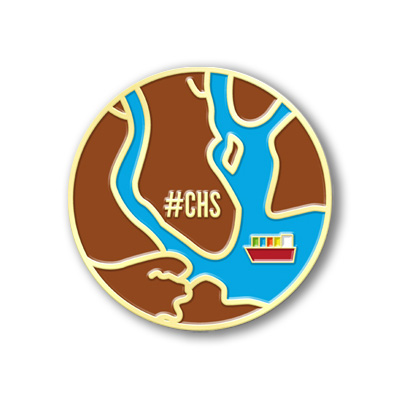 charleston lapel pin