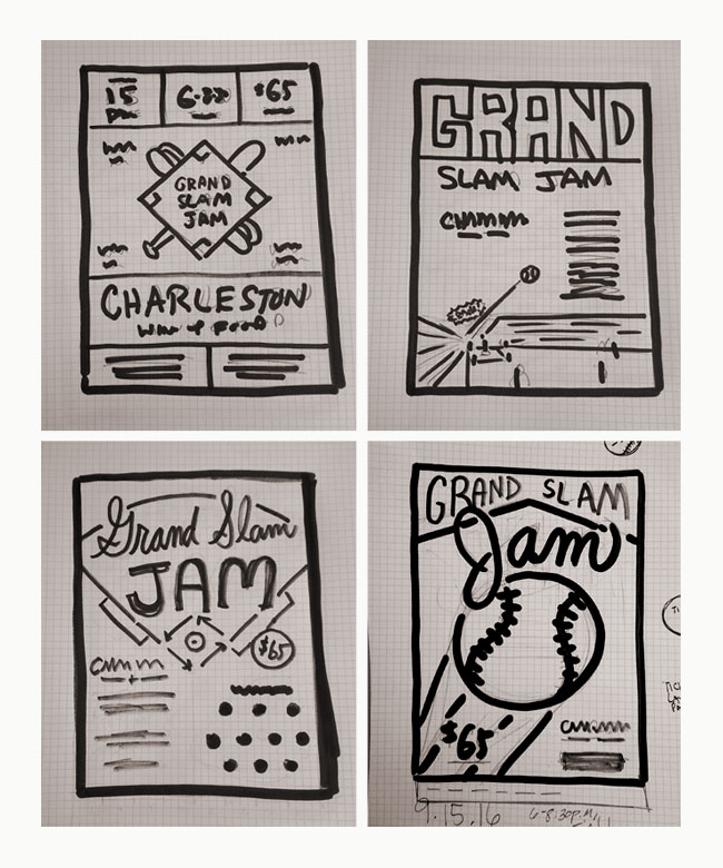 sketches of charleston rainbow poster