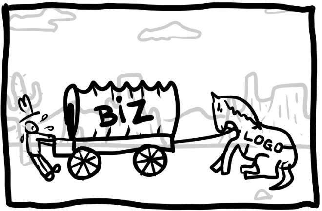wagon pulling horse