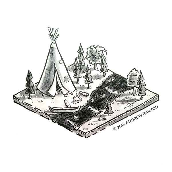 isometric indian camp