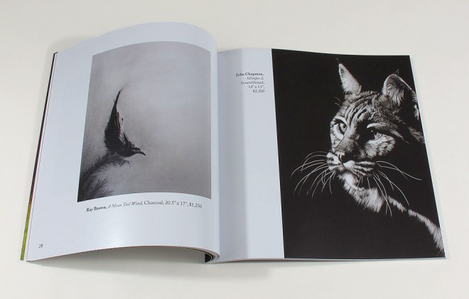 interior spread with wild cat artwork