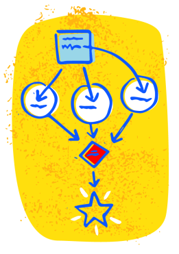 illustration of workflow chart