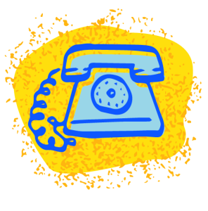illustration of telephone