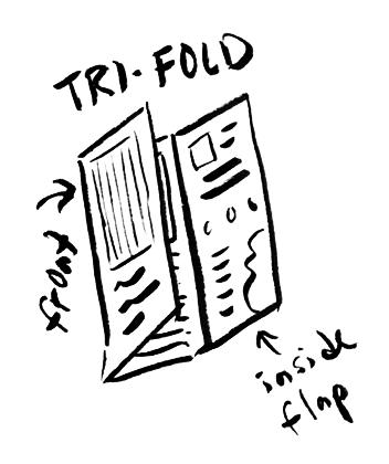 tri-fold hand sketch