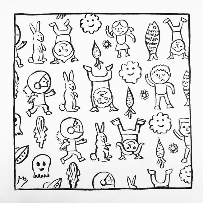pattern of kids and toys