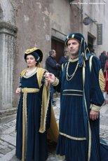 New Arnolfini spouses medieval parade in Erice