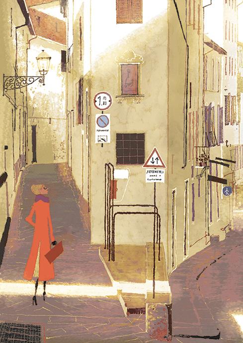Alleys at Calatafimi. Illustration by Tadahiro Uesugi.