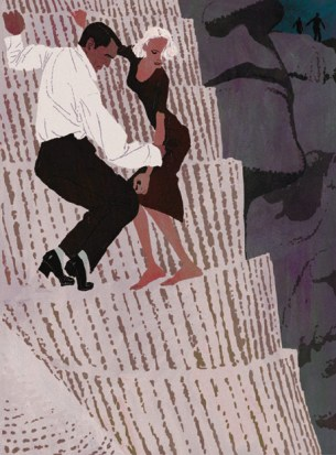 Montalbano escape. Illustration by Tadahiro Uesugi