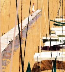 Trapani marina. Illustration by Tadahiro Uesugi.