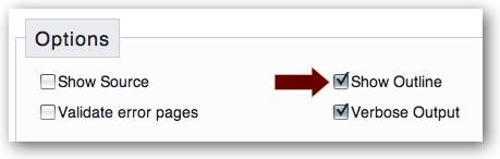 W3C Validator outline option