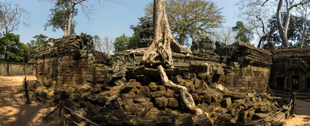 A panorama from the Tomb Raider Temple, not sure what it's actually called but it's really awesome. Trees growing up everywhere.