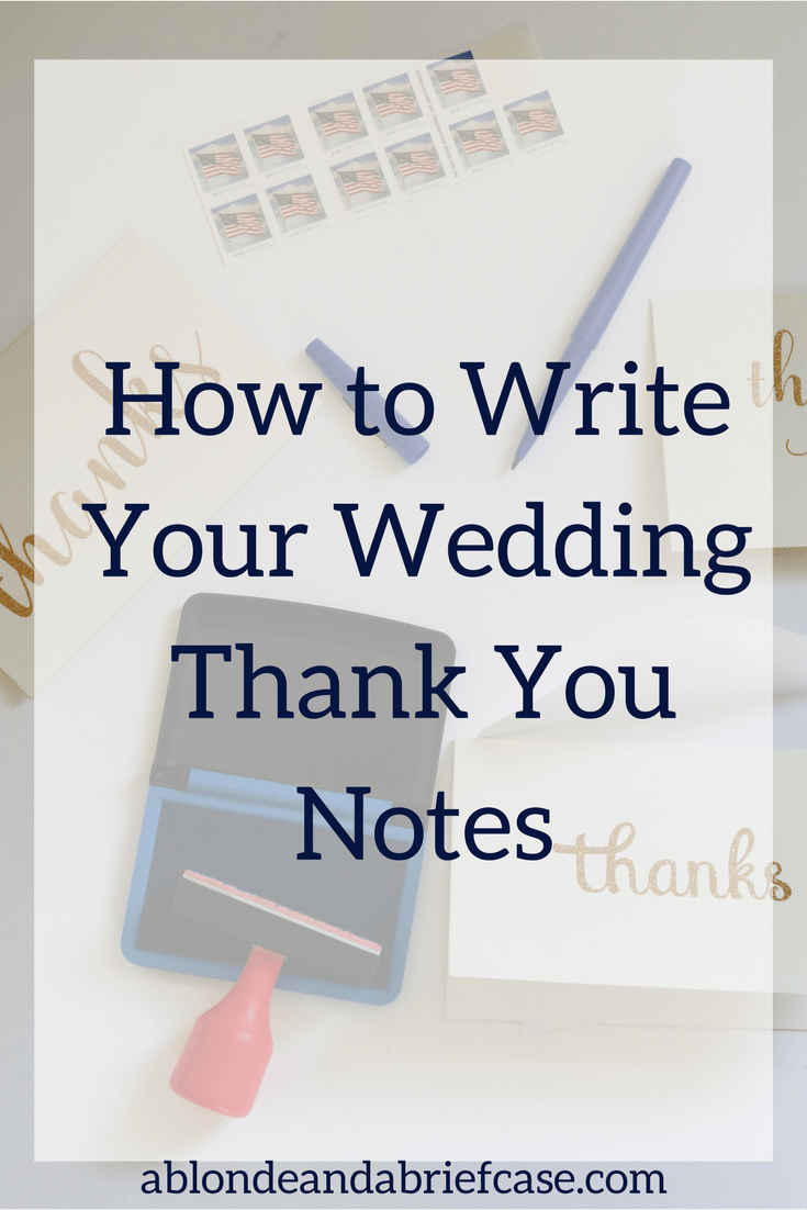How To Write Your Wedding Thank You Notes
