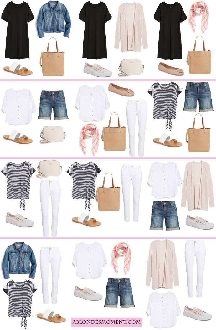 12 outfits in a