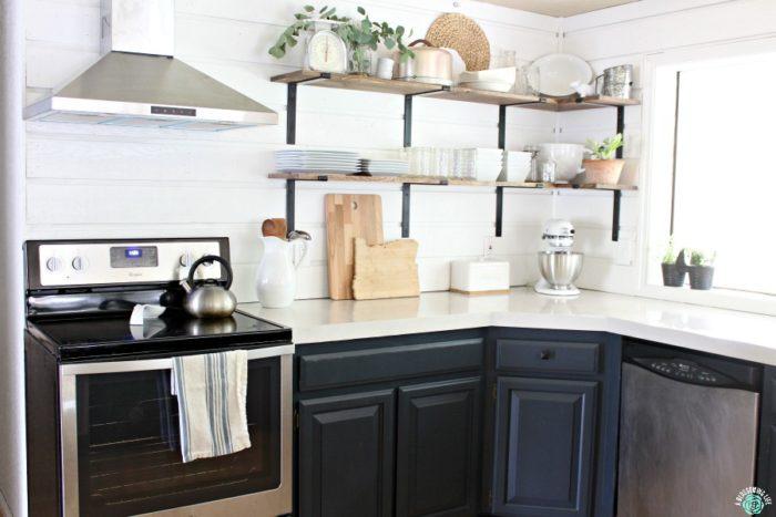 kitchen on a budget 7 piece table set renovation reveal modern farmhouse save