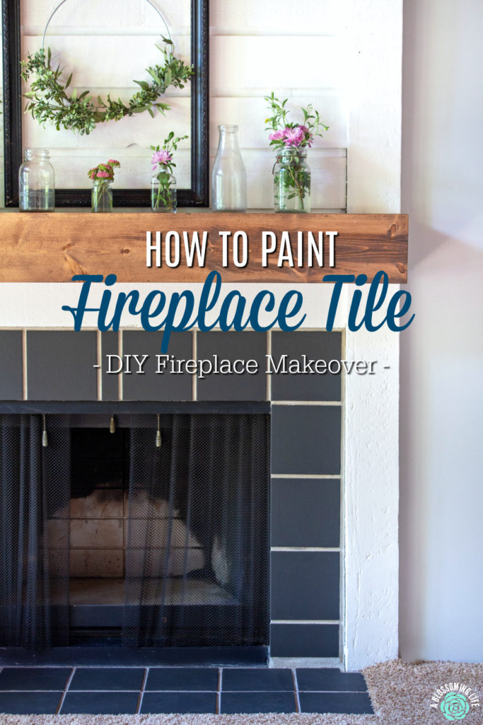 how to paint fireplace tile diy