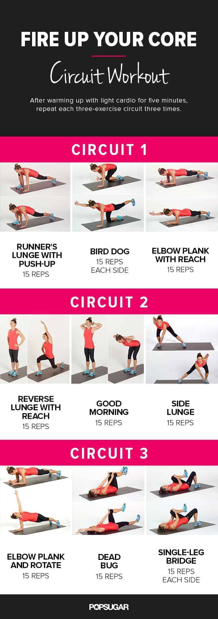top core workouts for women lean and strong belly