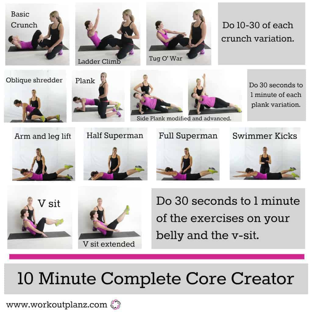 Best 10 Minute Ab Workouts For Women To Get Flat Stomach