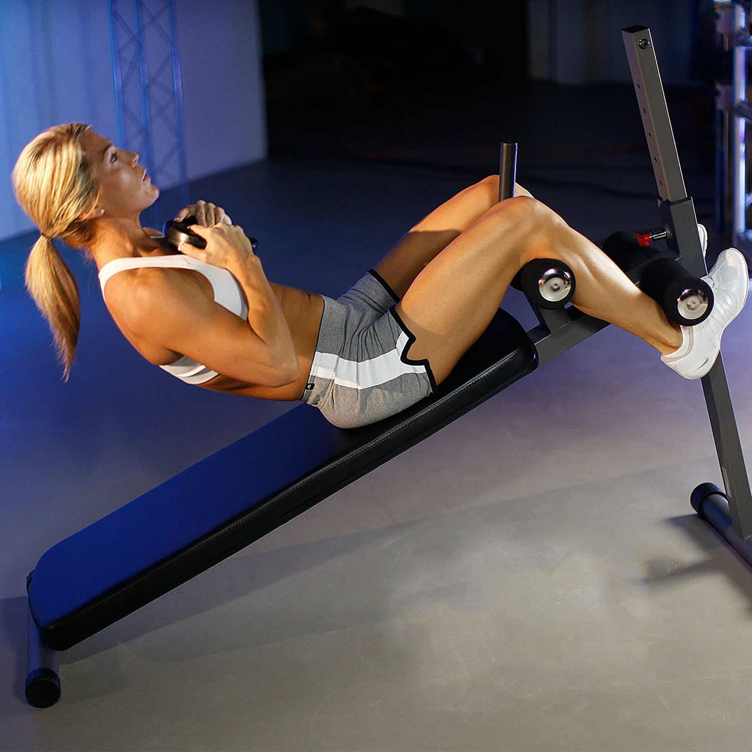 Xmark Position Ergonomic Adjustable Decline Ab Bench