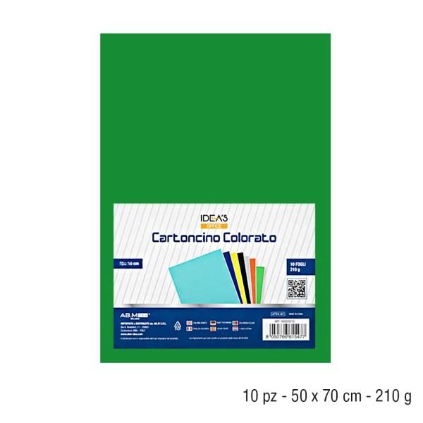 HX924222 CARTONCINO VERDE 50*70CM 210GR/MQ 10PZ