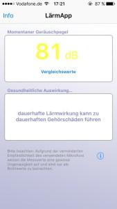 Pegel messen per App.