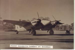 First Mosquito Bomber At Breddan