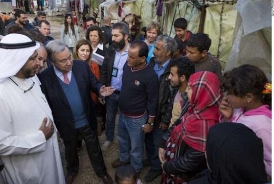 António Guterres and Humanitarian Envoy for Kuwait Abdullah Al-Matouq visit Lebanon
