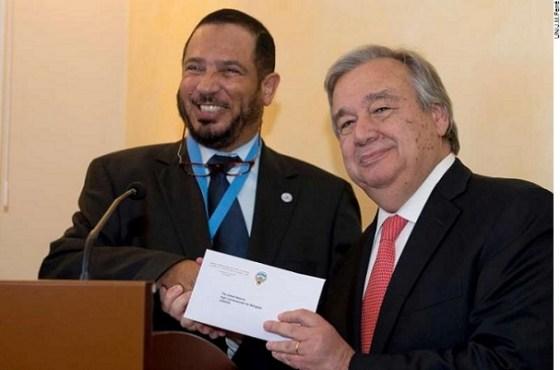 Guterres and Abdullah Al-Matouq