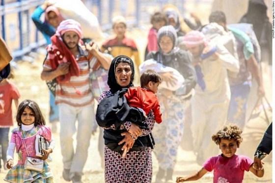 Syrians fleeing renewed