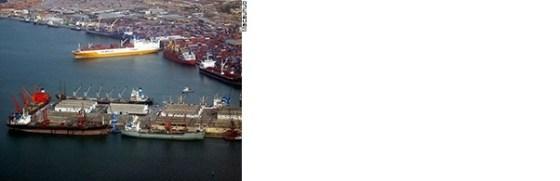 Porto de Luanda em Angola