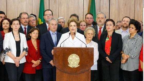 Dilma Rousseff no  Último Discurso no Planalto