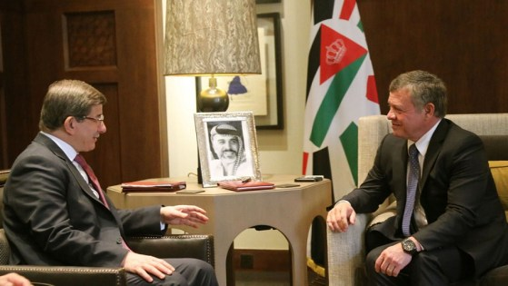 King Abdullah II and Turkish Prime Minister, Ahmet Davutoglu discuss Syrian crisis, war on terror