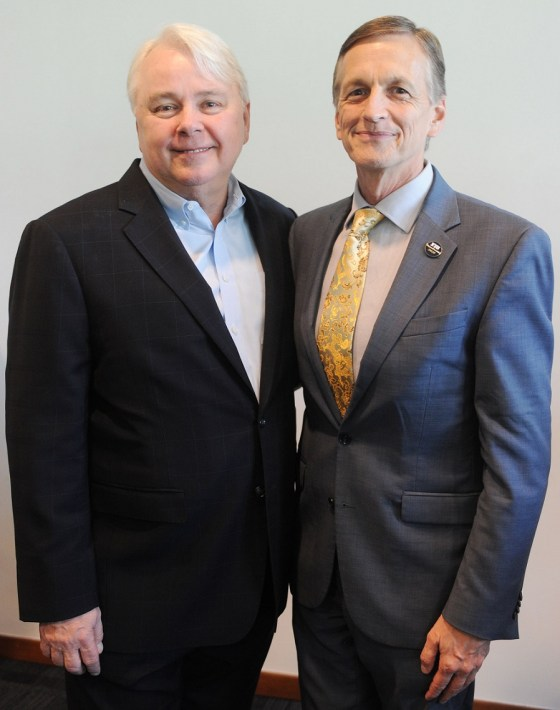 Dennis Scholl and Dr. Kenneth Furton