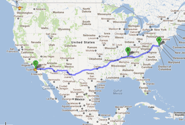 This morning, Astraea rolled through Nashville, Tennessee. The big trip is almost a third over.