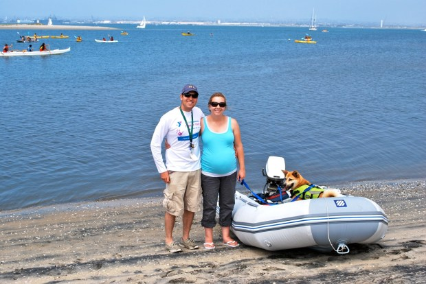 A first dinghy ride to distant shores