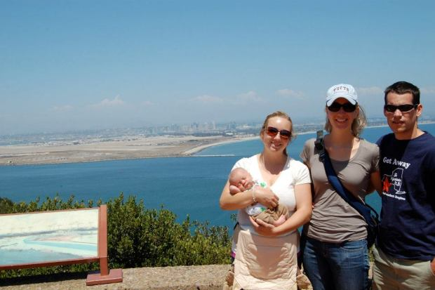 While I was at work, Natalie took a trip up to Cabrillo Monument in Point Loma
