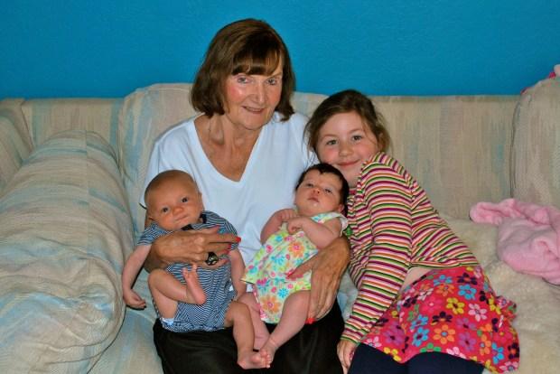 Grandma with the grandkids