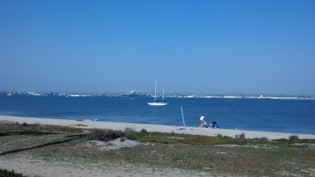Anchored off the Silver Strand in San Diego Bay