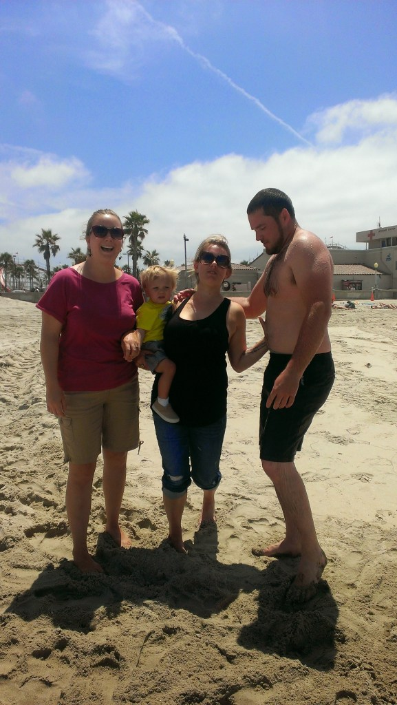Natalie, Sully, Jill and Barret (still dripping from a cold swim in the ocean)