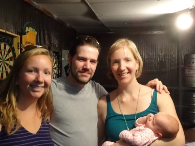 Natalie, Neal and Nicole with baby Elena. Thanks to Neal for lots of the family photos on wedding weekend!