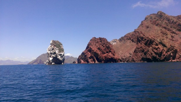 Rounding the point on our way in to Guaymas