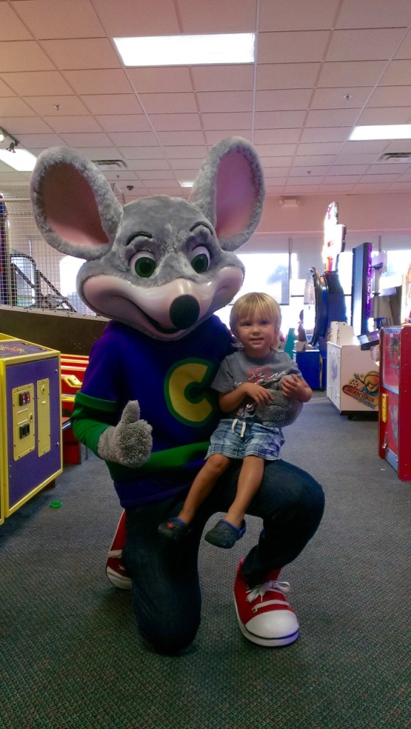 We went to Chuck E Cheese's again because it was Sully's birthday and he had so much fun the first time we went.